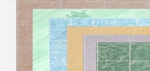 """Панель EUCATEX/RUKUS 1,22х2,44м влагост плитка """"Лилия"""" 15х20см ДВП"""