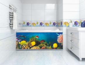 Экран для ванны Ультра легкий АРТ 1,5 метра №2