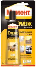 Герметик-силикон Момент универсал. 85мл. белый/прозр.