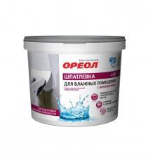 Шпатлевка Ореол 1,5кг. для влажных помещений с антисептиком