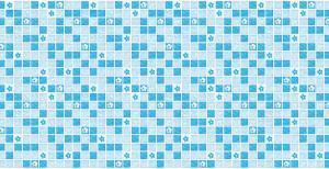 Панель ПВХ Артдекарт 0,955х0,48м Мозаика Бирюза