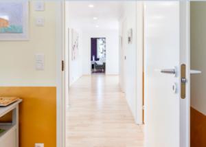 Дверь гладкая БЕЛАЯ крашенная Олови (Olovi) с притвором для офиса с замком 2014