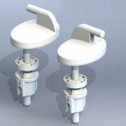 Крепление для сиденья унитаза КР07 пластик, регулир.