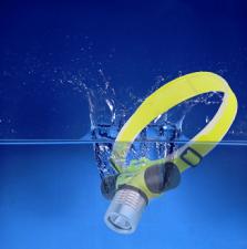 Фонарь LED налобный для дайвинга 1W 30м /1702-101