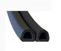 Уплотнитель D-профиль 9х8 двойной черный