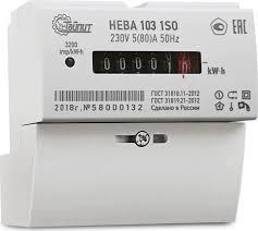 Счетчик эл.энергии НЕВА-103 1Ф 1SO 5-80А 220В на DIN рейку