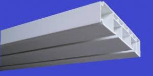 Карниз для штор багет Стандарт 2 ряда. с крючками шир.75мм.