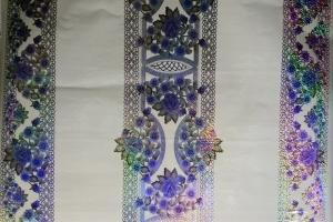 Клеенка стол. ПВХ Танго 3D  голубая  шир.1,4м (пог.м) 4157-4505DB