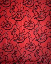 Шторка для душа 180х180 (узоры красная) H401