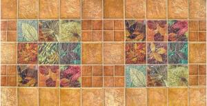 Панель ПВХ Артдекарт 0,955х0,48м Листья в камне