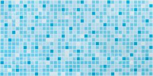 Панель ПВХ Артдекарт 0,955х0,48м Мозаика голубая