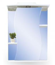 Зеркало Милано Альфа-2 55см с подсветкой и розеткой