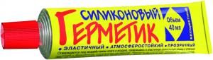 Герметик силикон. бесцветный 40мл. Новбытхим