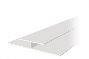 H-профиль стыковочный белый 8мм,  3м
