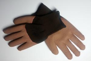 Перчатки прорезин. коричневые