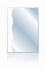 Зеркало Волна-1 850х400 пескоструйный рисунок