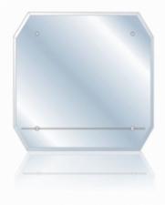 Зеркало Стайл-3 520х520 фацет+полка