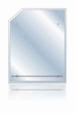 Зеркало Стайл-4 670х520 фацет+полка