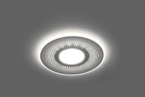 Софит, светильник встр. с LED подсветкой Feron CD950 потолочн. MR16 G5.3 белый матовый