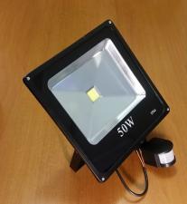 Прожектор 50Вт 1 LED с датчиком движения 1702-54/1801-46