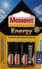 Батарейки Момент Energy LR6 (4шт.)