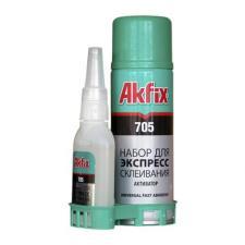 Клей Akfix 705 (65гр.+ 200мл) Набор для экспресс склеивания