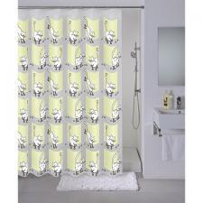 Шторка для ванной, душа 180х180см с кольцами  Cozy cats Milardo 034735