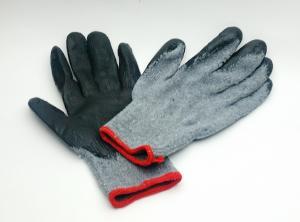 Перчатки х/б серо-черн. прорезин.