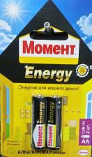 Батарейка Момент Energy LR06 тип АА (2шт.)
