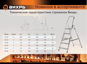 Лестница-стремянка стальная Вихрь