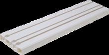 Карниз для штор багет Стандарт 3 ряда с крючками  ширина 85мм