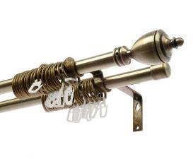 Карниз для штор кованный раздижной ф16мм 1,6-3м 2-х рядн. Ферзь