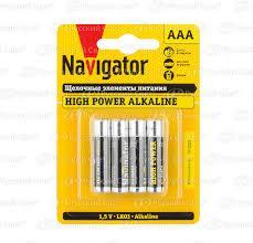 Батарейка Navigator LR03 Alkaline (1шт)