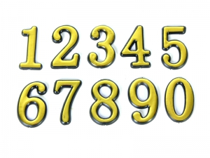 Цифра на дверь самокл. большая (высота 100мм) цифра