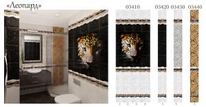Панели ПВХ Леопард 2,7х0,25х0,008м термопечать