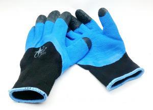 Перчатки прорезин. синие утепленные