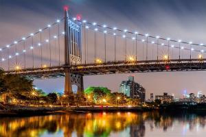 """Стеновая панель фотопечать """"Мост Ист-ривер"""" АВС 600х900х1.5мм"""