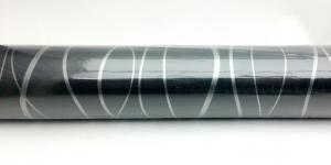 Обои, пленка самоклеющаяся 45см х 7м М5694-1 черный с серебром