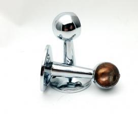 Держатель для трубы Ф19мм №22 на ножке концевой (пара)