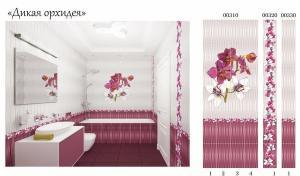 Панели ПВХ Дикая орхидея 2,7х0,25х0,008м термопечать